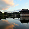 Anapji Pond, Gyeongju : One of the most scenic spots in Korea, Anapji Pond is a pleasure pond built as part of a Silla royal palace. It was dredged and restored in 1974, and has been the subject of much archaeological work.