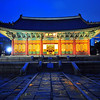 Deoksugung at Night : The Deoksugung Palace on a rainy summer Saturday evening.