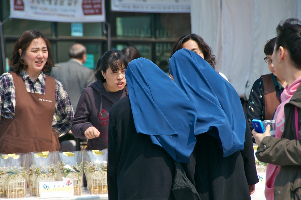 Two nuns, Myeong-dong Cathedral